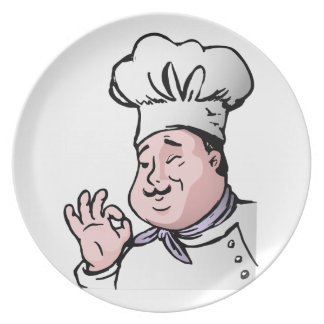 Chef approves dinner plate