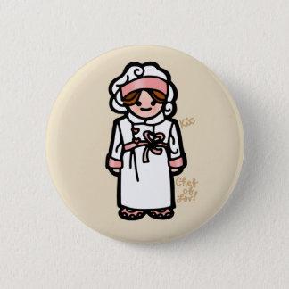 chef badge. 2 inch round button