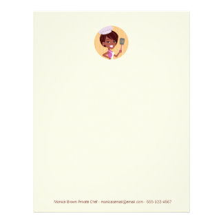 Chef Baker African American Letterhead