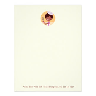 Chef Baker African American Letterhead Style 2