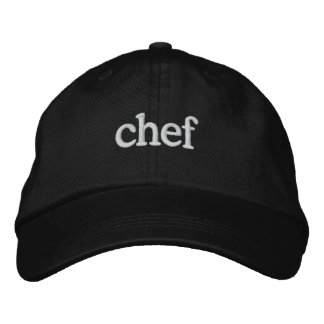 Chef Basic Embroidered Black Cap Template Embroidered Hats