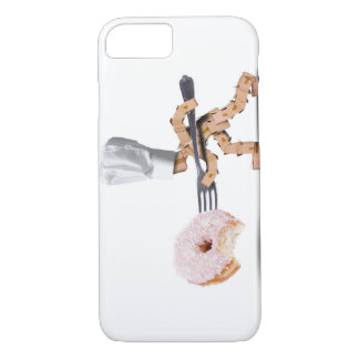 Chef box character attacking a large donut iPhone 8/7 case