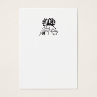 Chef Carry Alligator Grill Cartoon Business Card
