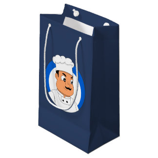 Chef cartoon small gift bag