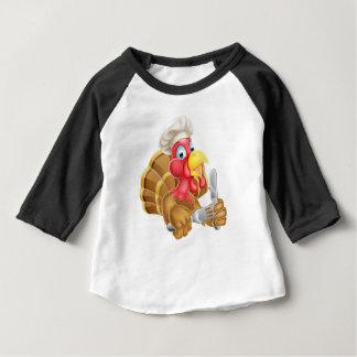 Chef Cartoon Turkey Baby T-Shirt