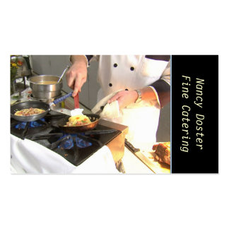Chef Catering Double-Sided Standard Business Cards (Pack Of 100)