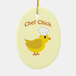 Chef Chick Ceramic Ornament