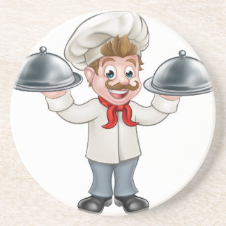 Chef Cook Cartoon Character Mascot Coaster