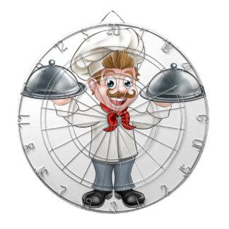 Chef Cook Cartoon Character Mascot Dartboard