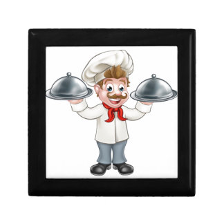 Chef Cook Cartoon Character Mascot Gift Box