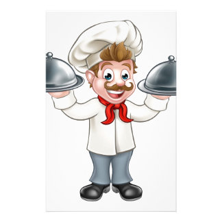 Chef Cook Cartoon Character Mascot Stationery