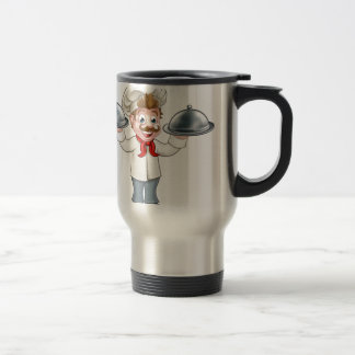Chef Cook Cartoon Character Mascot Travel Mug