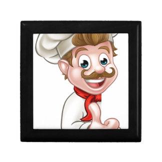 Chef Cook Cartoon Mascot Gift Box
