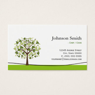 Chef / Cook - Elegant Wish Tree Business Card