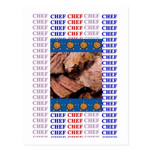 CHEF CUISINE KITCHEN CAFE by NAVIN Joshi Postcards