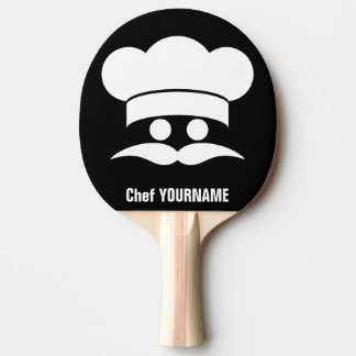 Chef custom color & text ping pong paddle
