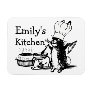 Chef Cute Bunny Rectangular Photo Magnet