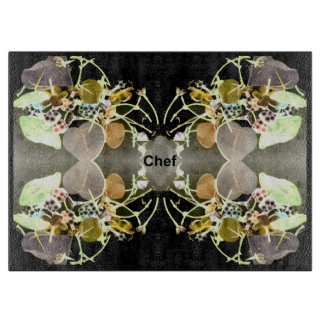 Chef Cutting Board - Peach/Gray/Black/Green/White
