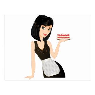 Chef de boulangerie carte postale