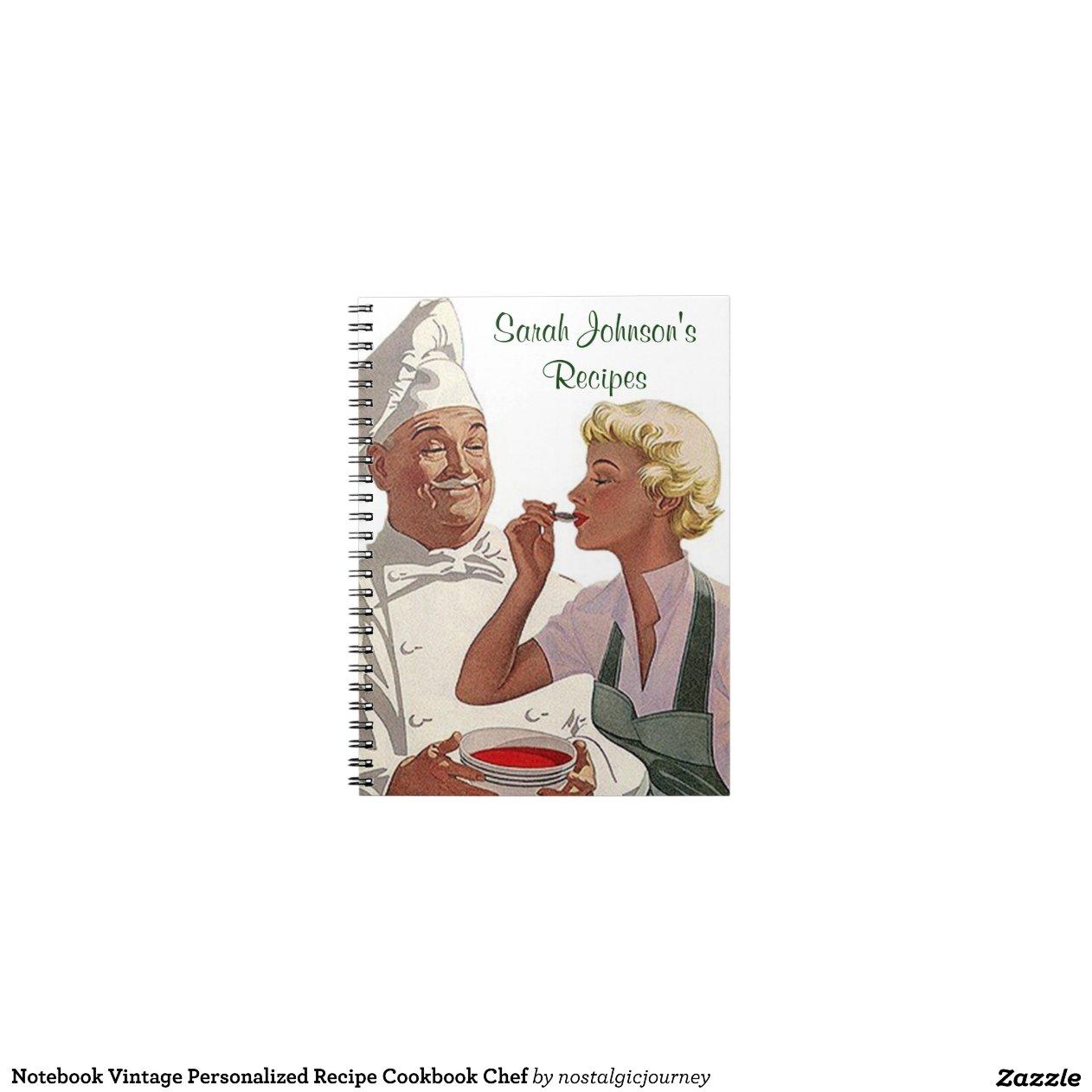 Chef de livre de cuisine de recette personnalis p carnets - Livre de cuisine personnalise ...