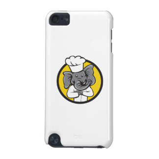 Chef Elephant Arms Crossed Circle Cartoon iPod Touch (5th Generation) Covers