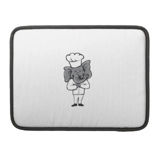 Chef Elephant Arms Crossed Standing Cartoon Sleeve For MacBooks