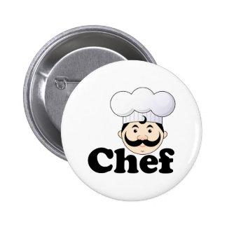 Chef Face 2 Inch Round Button