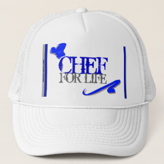 """Chef For Life"" Mesh Ballcap Trucker Hat"