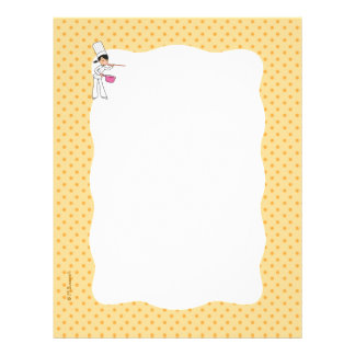 Chef Girl Cartoon Personalized Letterhead