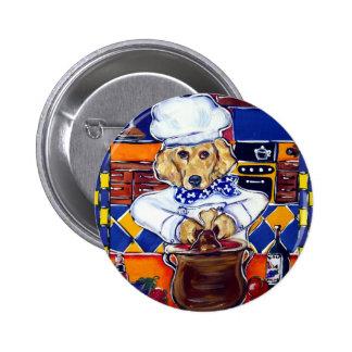 Chef Golden Retriever Pinback Button