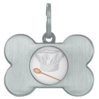 Chef Hat Pet Name Tag