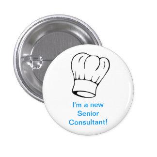 Chef Hat - Senior Consultant 1 Inch Round Button