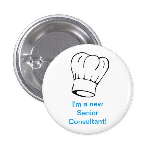 Chef Hat - Senior Consultant Pinback Button