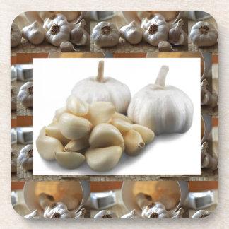 Chef Healthy Eating Cuisine Art Garlic Seasoning Coaster