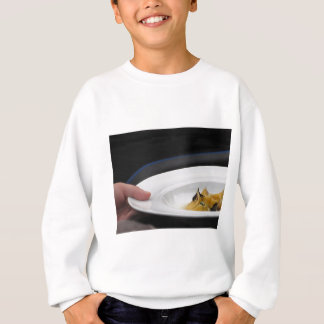 Chef holding cooked handmade Agnolotti to serve Sweatshirt