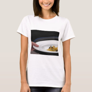 Chef holding cooked handmade Agnolotti to serve T-Shirt