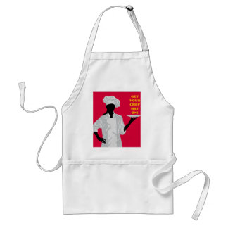 Chef Holding Dish Standard Apron