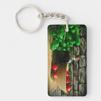 Chef Ingredients Double-Sided Rectangular Acrylic Keychain