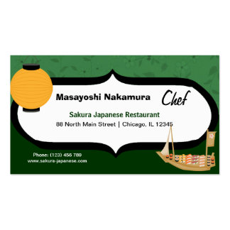 Japanese Restaurants Business Cards and Business Card
