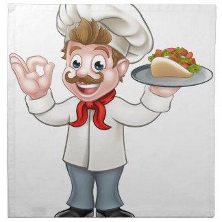 Chef Kebab Cartoon Napkin