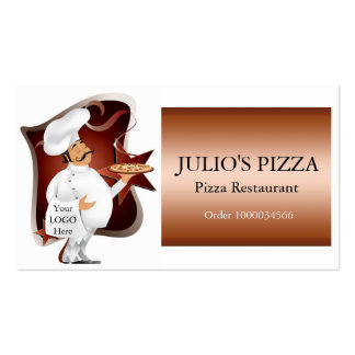 Chef Logo For Pizza Restaurants Business Card