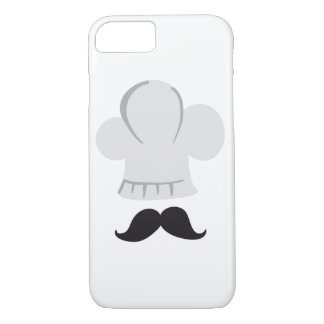 chef moutache top cooking iPhone 7 case