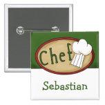 Chef Name ID 2 Inch Square Button