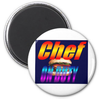 CHEF ON DUTY 2 INCH ROUND MAGNET
