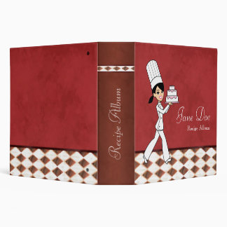 Chef Painting Recipe Album Red Tones Binder