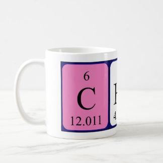 Chef periodic table word mug