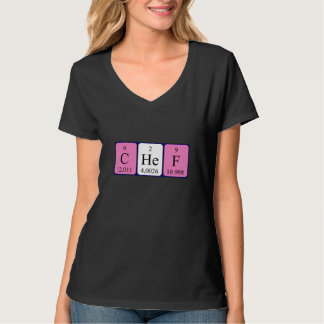 Chef periodic table word shirt