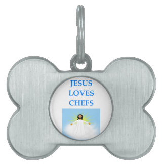 CHEF PET NAME TAGS