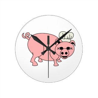 Chef Pig Clocks
