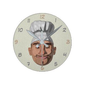 Chef Restaurant 2 Round Clock